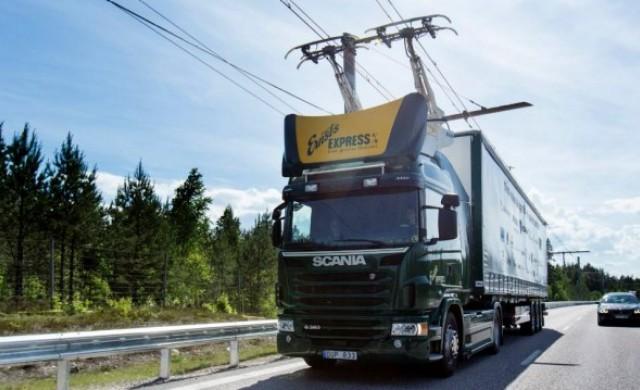 Германия отвори първата магистрала за електрически камиони