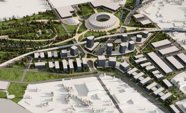 MAG изгражда нов национален стадион до летището в София (снимки)
