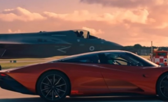 Кой е по-бърз - McLaren Speedtail или изтребител F-35? (видео)