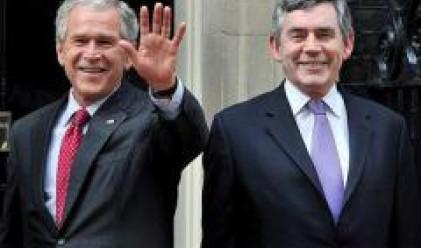 Джордж Буш ще разговаря днес с британския премиер Гордън Браун