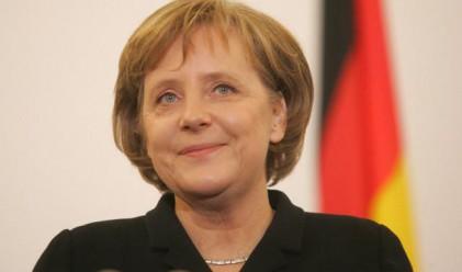 Меркел подкрепи еврото днес