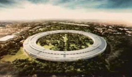 Apple строи нова централа във формата на космически кораб