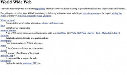 Как е изглеждал първият уебсайт?