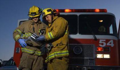 Пожар горя в офис на Лев Инс