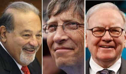 Най-богатите хора в света спечелиха 28 млрд. долара за седмица