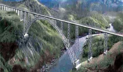 В Индия строят най-високият железопътен мост в света
