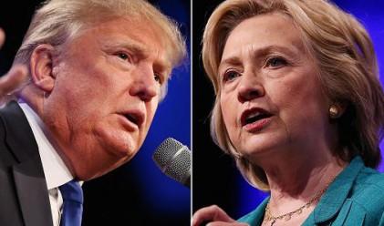 Хилари Клинтън води на Доналд Тръмп