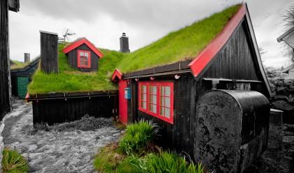 20 невероятни скандинавски къщички със зелени покриви