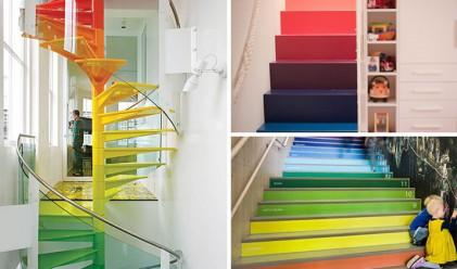 7 вдъхновяващи примера за цветни като дъгата стълби