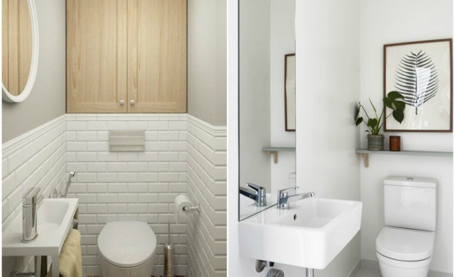 14 начина визуално да увеличите малката тоалетна