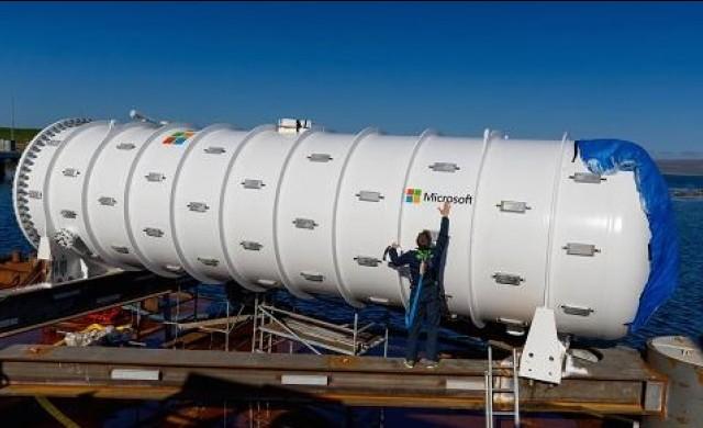 Microsoft потопи под вода център за данни, наподобяващ подводница