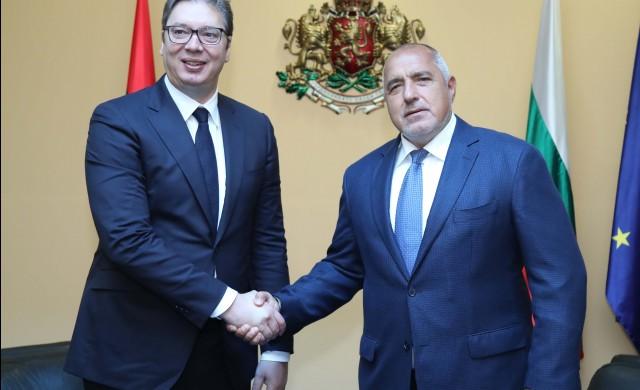 """Борисов и Вучич инспектираха строителството на """"Балкански поток"""""""