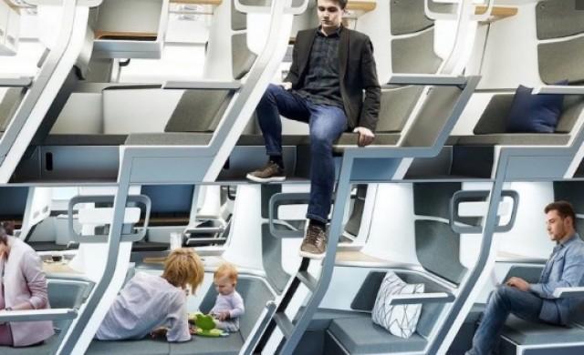 Седалки на 2 етажа осигуряват повече място в самолета на бъдещето