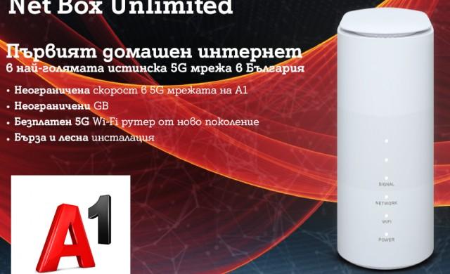 A1 стартира първата услуга у нас за фиксиран интернет през 5G мрежа