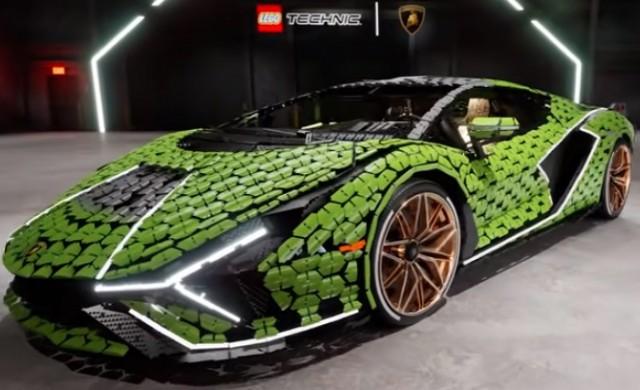 Lego създаде копие на Lamborghini Sián в реални размери