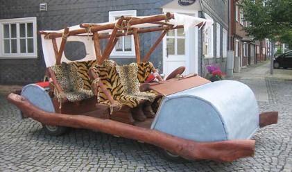 Германец конструира Флинстоунмобил