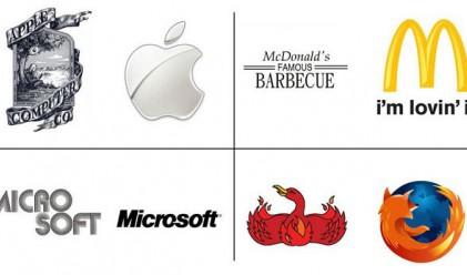Логата на известните компании – преди и сега