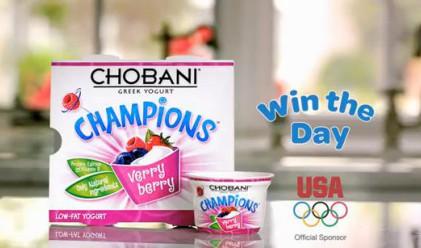Chobani печели рекламната война в нета преди Олимпиадата