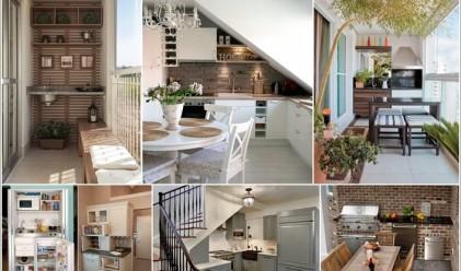 10 места в дома, на които да разположите малка кухня