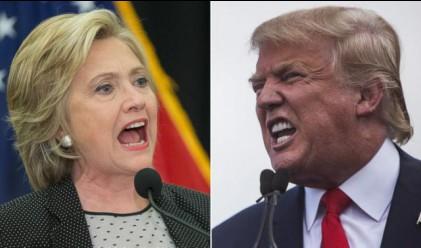 Пада преднината на Хилари Клинтън пред Доналд Тръмп