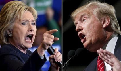Преднината на Клинтън пред Тръмп се топи