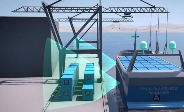 Първият безпилотен кораб се строи в Норвегия