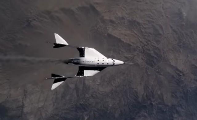 Совалката на Ричард Брансън достигна два пъти скоростта на звука