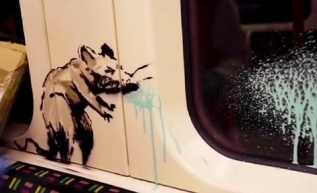 Чистачи в лондонското метро отстраниха творба на Банкси