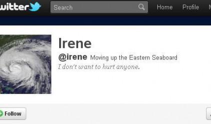 Ураганът Айрин със собствен акаунт в Twitter