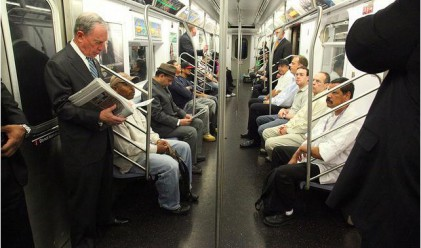 Милиардерите също ползват метрото