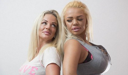 Майка и дъщеря стриптизьорки похарчиха 56 000 паунда за красота