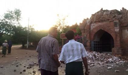 Трусът в Мианмар разруши древни будистки храмове