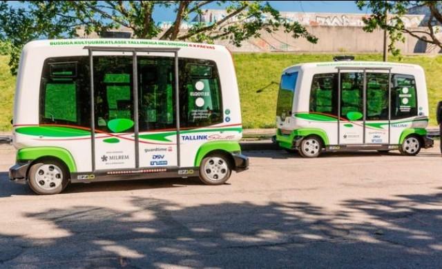 Естония пусна автономни автобуси по улиците на Талин