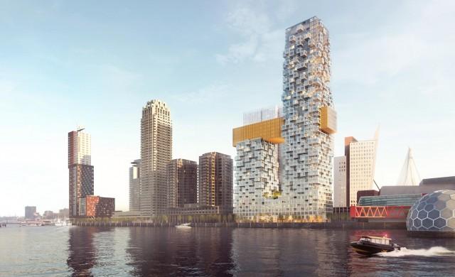 В Ротердам ще има небостъргач с пикселизирани стени