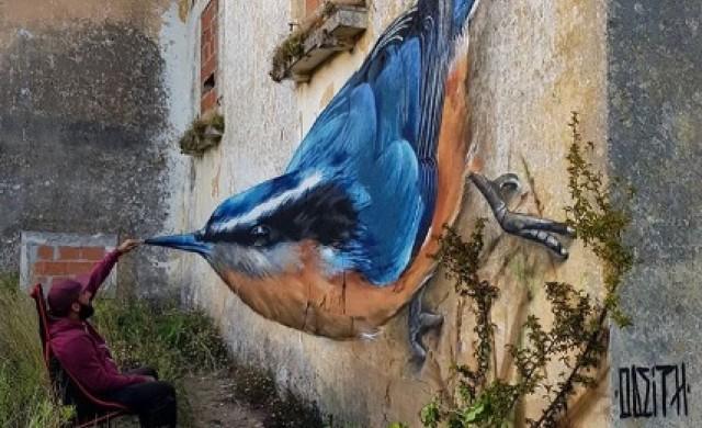 Графити художникът, създаващ невероятни оптични илюзии (снимки)