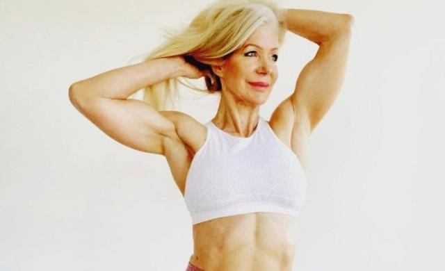 63-годишна баба изкушава млади мъже с релефните си мускули