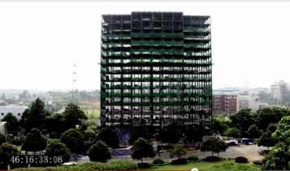 Ето как се строи хотел на 15 етажа за една седмица (видео)