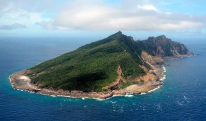Морска битка с водни струи за островите Сенкаку
