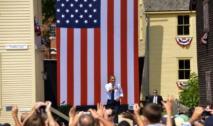 Обама направи гаф, замаза го с шега за Ромни