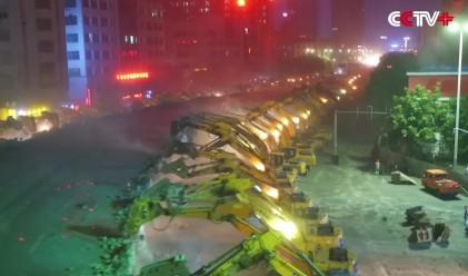 В Китай строят бързо. Много бързо
