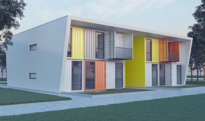 Столично спортно училище с общежитие от контейнери (снимки)