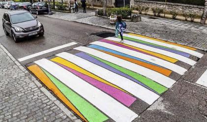 Български художник нарисува пешеходни пътеки в Мадрид