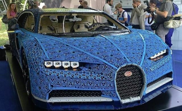 Създадоха истинска движеща се кола Bugatti Chiron от лего кубчета