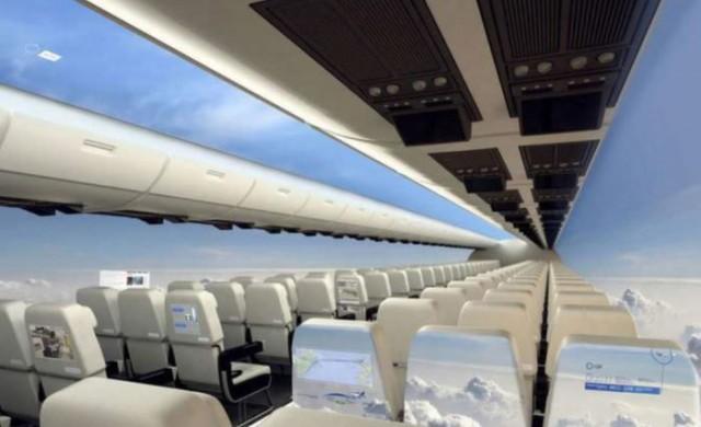 Самолет не с прозорци, а с огромна гледка