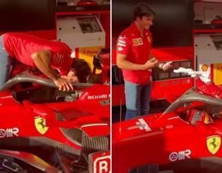 Когато Каби Лейн посети Ferrari (видео)