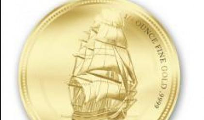 """ПИБ представя лимитирани колекции златни монети с кораба """"Баунти"""""""
