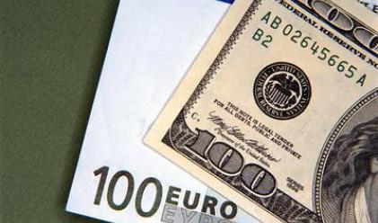 Доларът с ново 14-месечно дъно срещу еврото