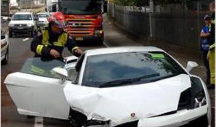 Купувач разби Lamborghini още на пробното кръгче