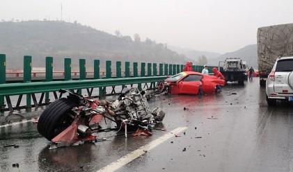 Катастрофа между две Ferrari в Китай (снимка)