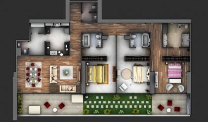 18 идеи как да изглежда едно жилище с три спални